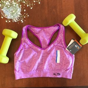 New* Purple Champion Sports Bra Size Large